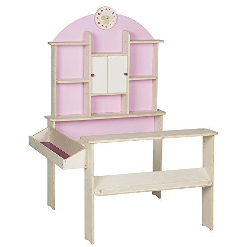 roba 480022 Kaufladen, Kinder Kaufmannsladen, Holz, Verkaufsstand mit Seitentheke, Uhr, Rückwand und...