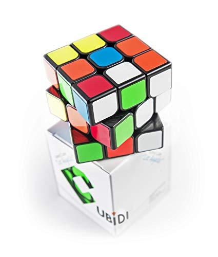 CUBIDI® Zauberwürfel 3x3 - Typ Los Angeles – klassischer Look - Speedcube 3x3x3 mit optimierten...