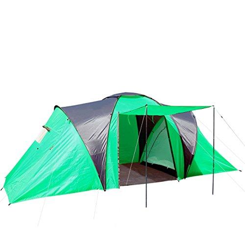 Campingzelt Loksa, 4-Mann Zelt Kuppelzelt Igluzelt Festival-Zelt, 4 Personen - grün