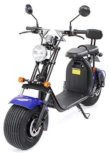 eFlux Chopper Two Elektroroller E-Scooter - Straßenzulassung - 45 km/h - 1500 Watt Motor - 2-Sitzer...