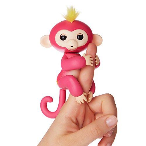 Fingerlings Äffchen pink mit gelbem Haar Bella 3705 interaktives Spielzeug, reagiert auf Geräusche,...