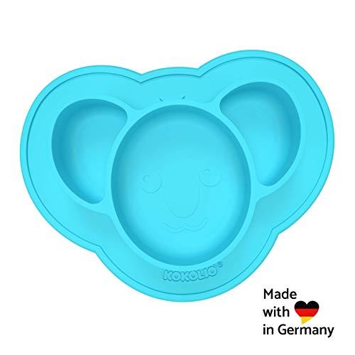 KOKOLIO® Kinderteller & Babyschüssel (Haftend & Rutschfest) MADE IN GERMANY, Saugnapf Für Ein...
