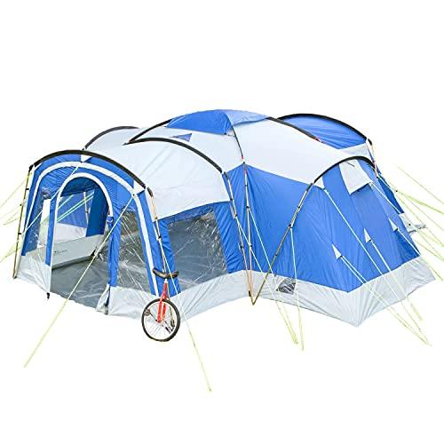 Skandika Nimbus für 8 Personen | Campingzelt mit 3 Schlafkabinen, wasserdicht, 5000 mm Wassersäule,...