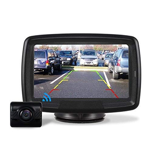 AUTO-VOX TD2 Rückfahrkamera Drahtlos Set mit 4.3' Zoll LCD Monitor, Wireless Einparkhilfe 12V mit IP68...