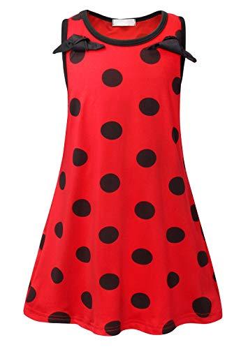 AmzBarley Ladybug Kostüm Kleid Kinder Mädchen Marienkäfer Cosplay Kleider Kind Party Halloween...