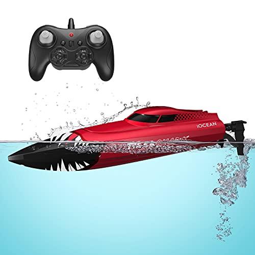 Rolytoy VraiJouet Ferngesteuertes Boot 25 km/h Hochgeschwindigkeits Wasserdichtes RC Boot 2.4GHZ...