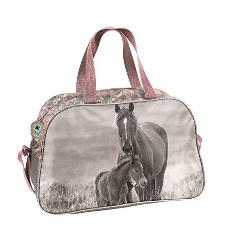 Ragusa-Trade Mädchen Kinder Sporttasche Reisetasche mit tollem Pferde Motiv (KO20) für Mädchen,...