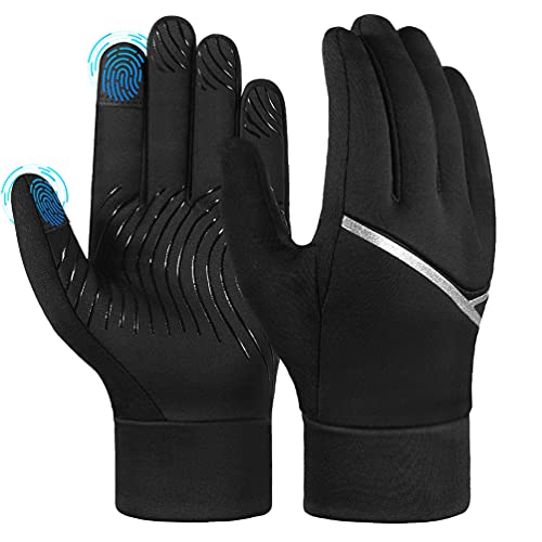 AOPOW Fahrradhandschuhe Kinder Winterhandschuhe Touchscreen Handschuhe - Winter Kinderhandschuhe Warme...