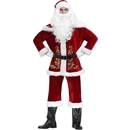 Proumhang Weihnachtsmann Kostüm Weihnachtsmann Kostüm 9 Zubehörteile (ohne Beutel)-XXXL(185-190cm)