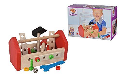 Eichhorn Kinder-Werkzeugkasten: Werkzeug und Schrauben aus Buchenholz