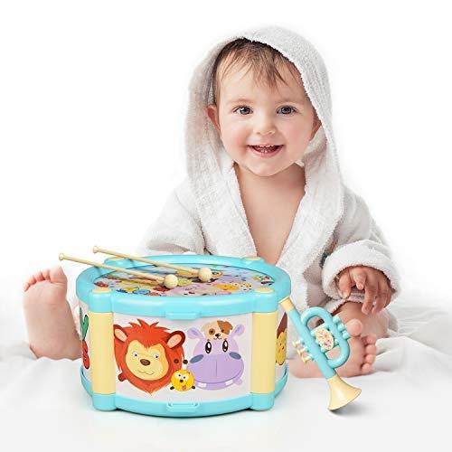ValueTalks Tamburin Set Kinder Trommel Musikinstrumente Set Spielzeug 6pcs Lernspielzeug Geschenk für...