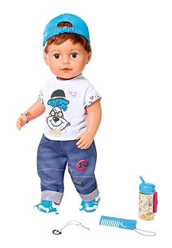 Zapf Creation 826911 BABY born Soft Touch Brother Puppe mit lebensechten Funktionen und Zubehör,...