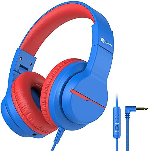 Kinder kopfhörer, iClever Kabel Kopfhörer für Kinder über Ohr, HD Stereokopfhörer mit Mikrofon,...