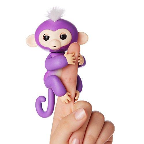 Fingerlings Äffchen lila mit weißem Haar Mia 3704 interaktives Spielzeug, reagiert auf Geräusche,...