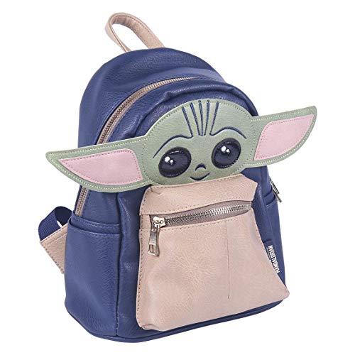 Cerdá Baby Yoda 3D-Rucksack, offizielles Lizenzprodukt, Star Wars, Leder: Synthetik, mehrfarbig, groß