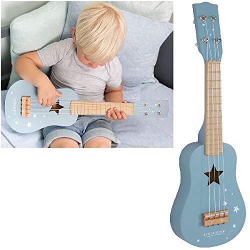 Little Dutch 4409 Kinder Gitarre Kindergitarre aus Holz, Adventure Blue