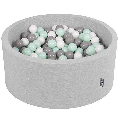 KiddyMoon Bällebad 90X40cm/300 Bälle ∅ 7Cm Bällepool Mit Bunten Bällen Für Junge Babys Kinder...