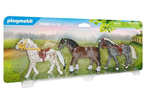 PLAYMOBIL Country 70683 3 Pferde, Ab 4 Jahren