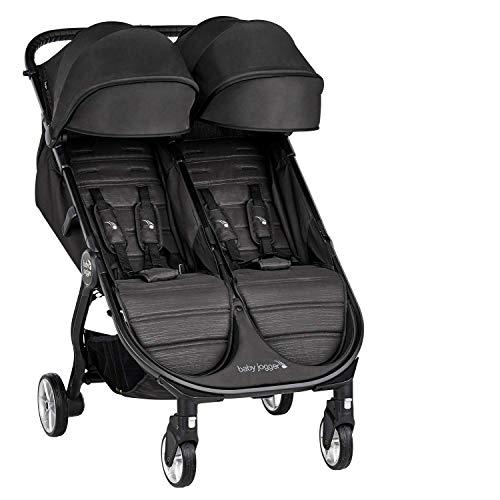 Baby Jogger City Tour 2 Geschwisterwagen | kompakt, zusammenklappbar & tragbar Zwillingsbuggy | Jet...