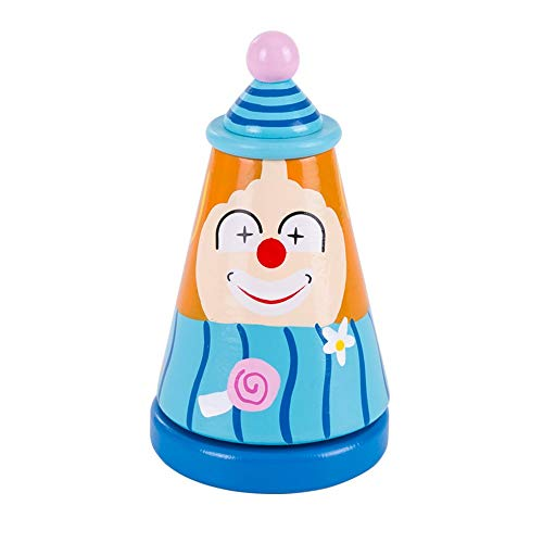 WFF Spielzeug Kinder-Spieluhr-Spielzeug-Durable Holz-Comedian aus Holz Baby Baby-Nette Karikatur Musikbox...