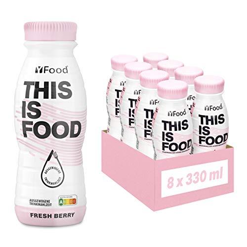 YFood Beere | Laktose- und glutenfreier Nahrungsersatz | 22g Protein, 26 Vitamine und Mineralstoffe |...