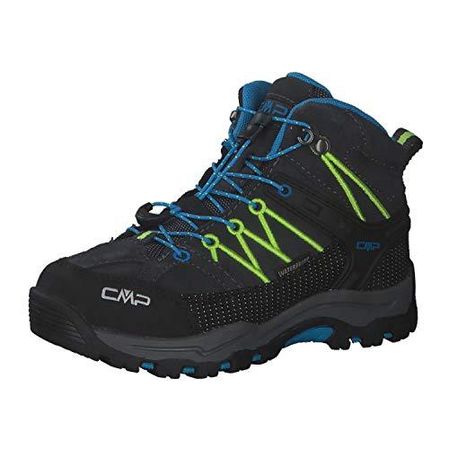 CMP Kinder Trekking Schuhe Rigel MID 3Q12944 Antracite-Yellow Fluo 34