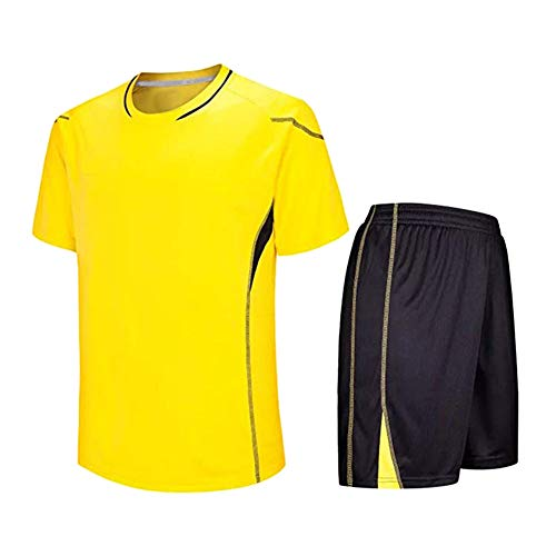 Meijunter Kind Erwachsene Fußball T-Shirt & Shorts Set - Team Training Wettbewerb Sportbekleidung Im...