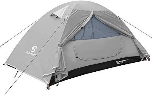 Bessport Zelt 2 Personen Ultraleichte Camping Zelte 3-4 Saison, Wasserdicht Zelt Kleines Packmaß,...