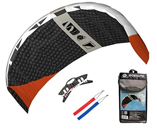 HQ Lenkdrachen Lenkmatte Drachen Symphony Beach III 2.2 Carbon Racer Kite