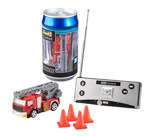 Revell Control 23558 Mini RC Car Feuerwehr aus der Dose mit 40MHz-Fernsteuerung inkl. Ladefunktion,...