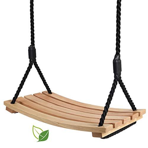 Eine hölzerne schaukel, Garten Schaukel, bogenförmige wasserdichte Schaukel ,Holzschaukel für Kinder...