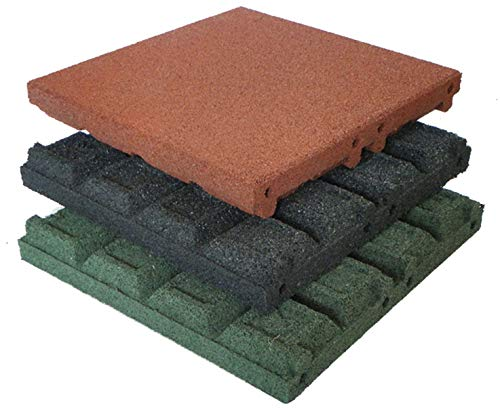 Gartenpirat Fallschutzmatten 50x50 cm Stärke 65 mm Farbe schwarz nach EN 1177:2008