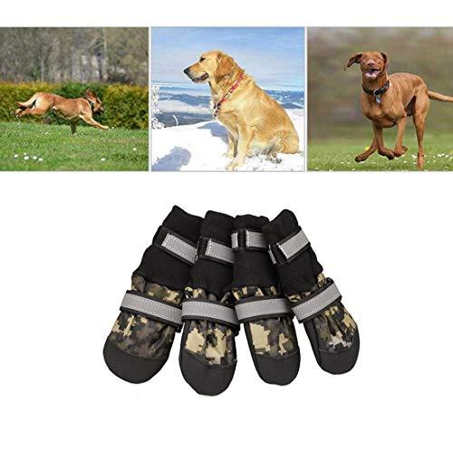 VICTORIE Hundeschuhe Pfotenschutz Regenschutz Hundestiefel wasserdicht für Haustier mittlere und große...