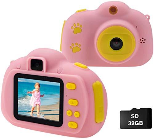 Cocopa Kinder Fotoapparat Kinderkamera für Jungen, Digitalkameras für Kinder kamera 32 GB Videokamera...