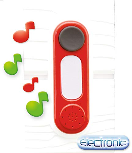 Smoby 810908WEB Sonnette elektronische Türklingel – Klingel für Spielhäuser, zum Nachrüsten,...