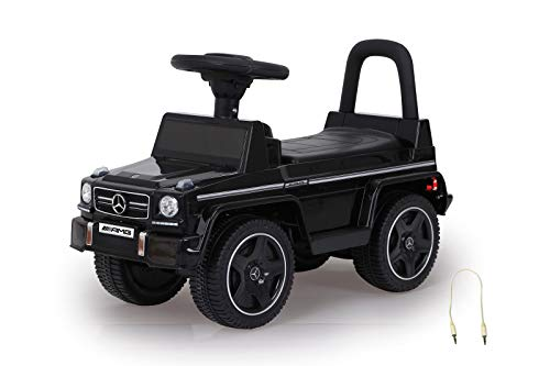 Jamara 460405 Rutscher Mercedes-Benz AMG G63 Kippschutz, Kofferraum unter Sitzfläche, Schub-und...