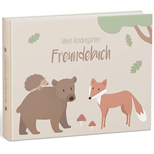 """mintkind® """"Meine Freunde"""" Kindergarten-Freundebuch für Jungen und Mädchen – Freundschaftsbuch..."""