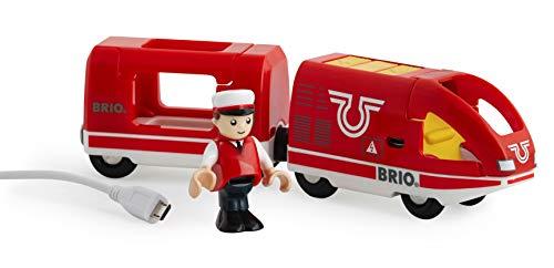 BRIO World 33746 - Roter Akku-Reisezug, Transport Verkehr