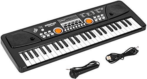 Kinder Piano Keyboard, 49 Tasten Elektronisches Klavier mit Mikrofon Tragbare Musik Tastatur...