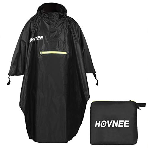 HOVNEE Regenponcho, 100% wasserdichter Multifunktions Outdoor Regen Poncho, geeignet für...