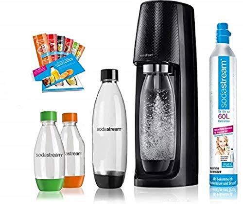 SodaStream Easy Wassersprudler-Set Vorteilspack mit CO2- Zylinder, 2x 1 L PET-Flasche, 2x 0,5 L...