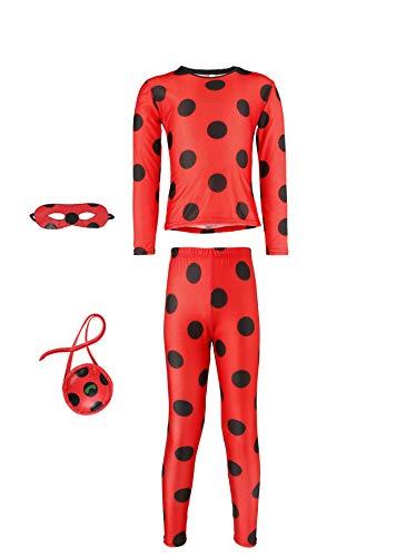 Seawhisper Ladybug Kostüm Kinder Mädchen 110 116 Lady Bug Set Faschingskostüme Fasching Karneval...