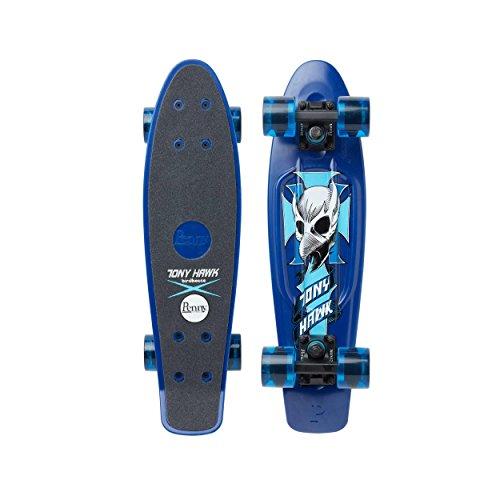 Penny Cruiser 22' Tony Hawk Crest Skateboard, Unisex, Erwachsene, Blau (blau), 22 Zoll