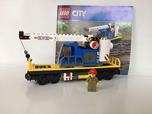 Lego City Eisenbahn Waggon mit Kran, Kranwagen (aus 60198)
