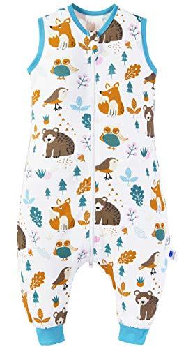Chilsuessy Baby Schlafsack Sommer mit Füßen 0.5 Tog 100% Baumwolle Kinder Sommerschlafsack für Jungen...