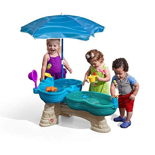 STEP2 Spill & Splash Seaway Wasserspieltisch   Großer Wassertisch mit 11-teiligem Zubehör Set &...