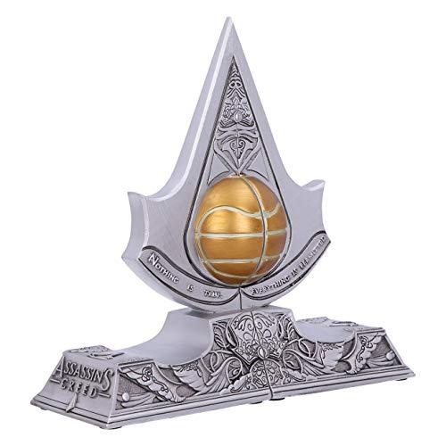 Nemesis Now Assassin's Creed Buchstützen, Apfel von Eden, Kunstharz, silberfarben, 18,5 cm B5349S0