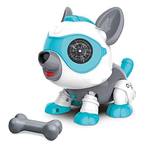 STEM DIY Roboter Hund Spielzeug Tier mit Knochen, Pädagogische und Interaktives Spielzeug für 3 Jahre...