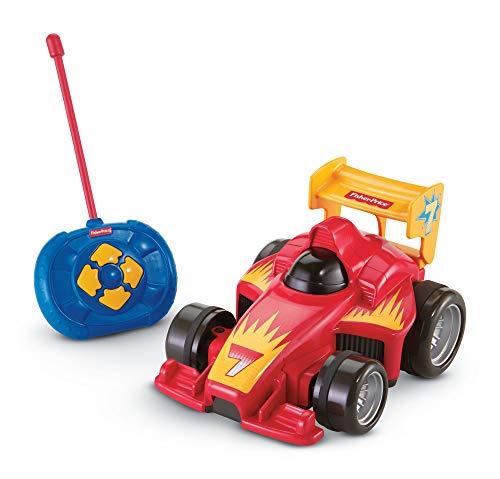 Fisher Price GVY94 - Fernlenkflitzer, ferngesteuertes Auto in rot, Motorikspielzeug mit Fernbedienung,...