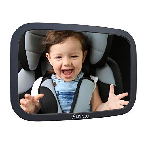 Mapalou Rücksitzspiegel für Babys aus bruchsicherem Material, Auto Rückspiegel für Kindersitz und...